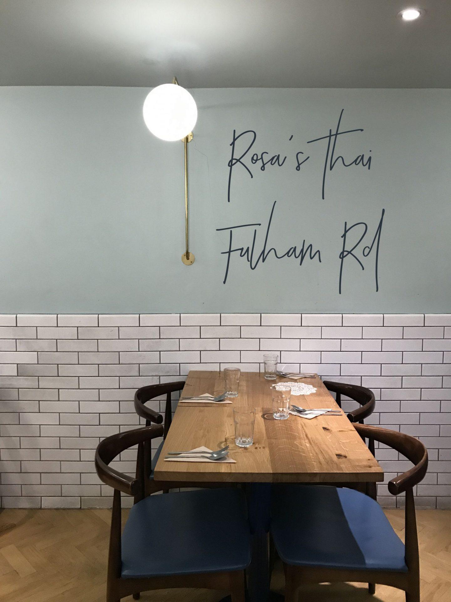 Rosa's Thai Fulham Rd