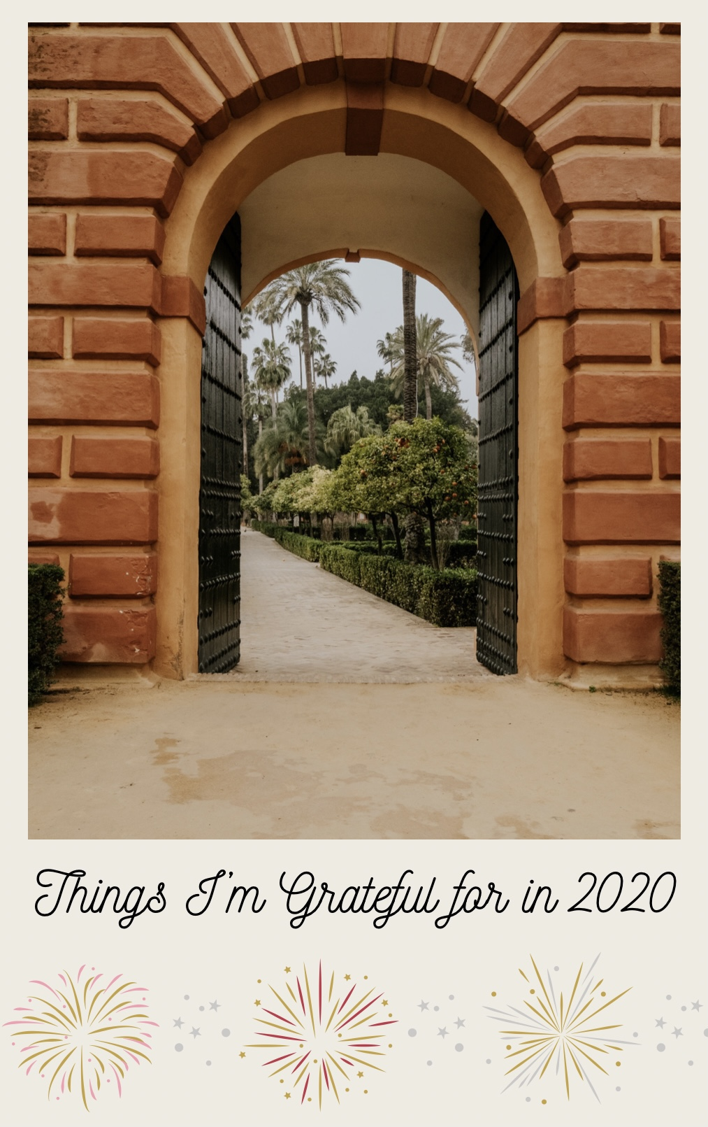 Things I'm grateful for in 2020